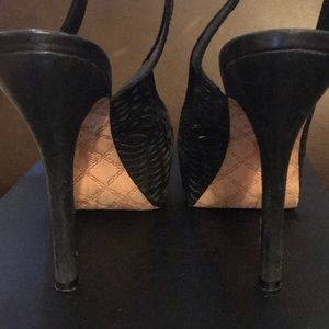 L.A.M.B. Shoes - LAMB black leather cutout platform heels